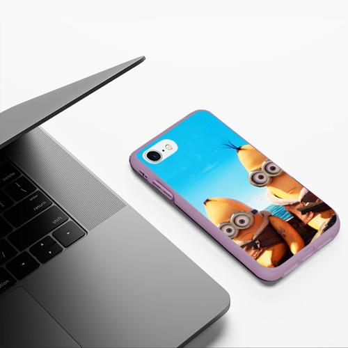 Чехол для iPhone 7/8 матовый Путешественники Фото 01