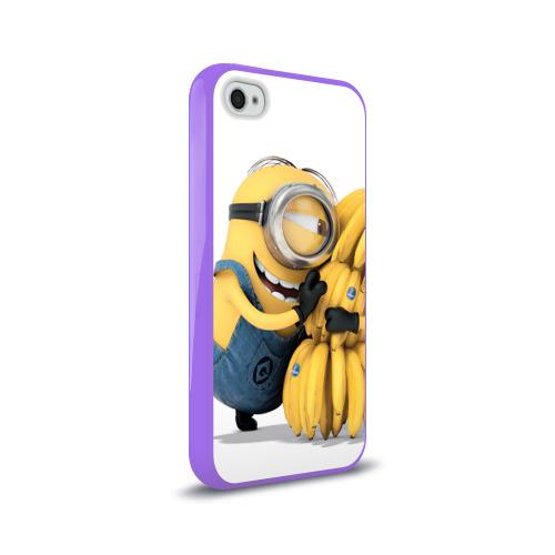 Чехол для Apple iPhone 4/4S силиконовый глянцевый  Фото 02, Банан