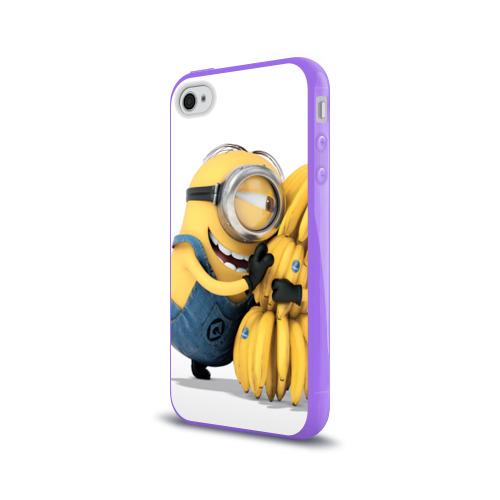 Чехол для Apple iPhone 4/4S силиконовый глянцевый  Фото 03, Банан
