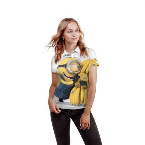 Женская рубашка поло 3D  Фото 03, Банан