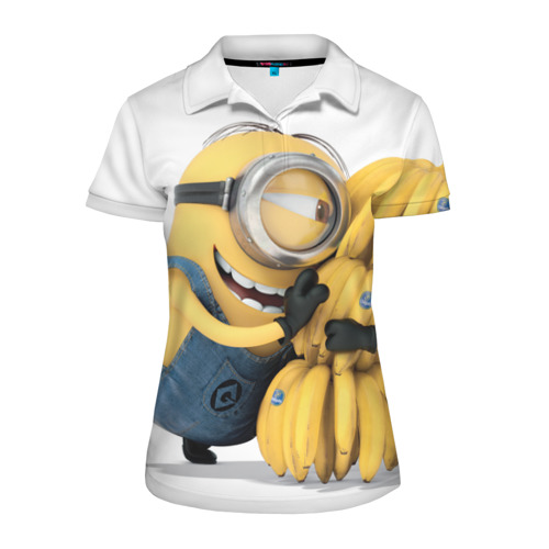 Женская рубашка поло 3D  Фото 01, Банан
