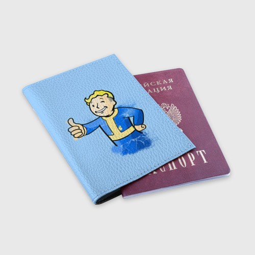 Обложка для паспорта матовая кожа  Фото 03, Fallout