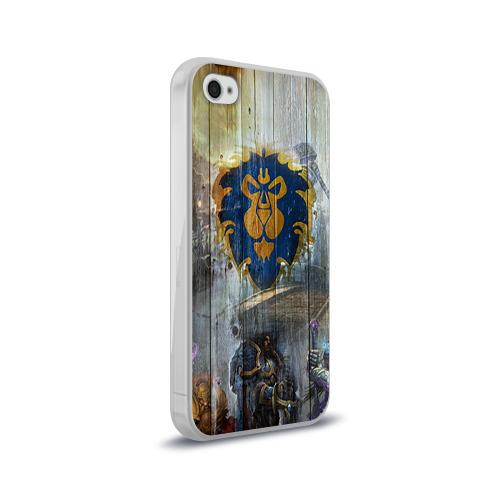 Чехол для Apple iPhone 4/4S силиконовый глянцевый  Фото 02, Альянс