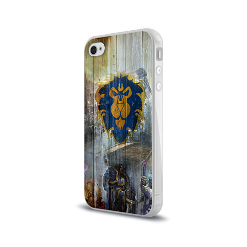 Чехол для Apple iPhone 4/4S силиконовый глянцевый  Фото 03, Альянс