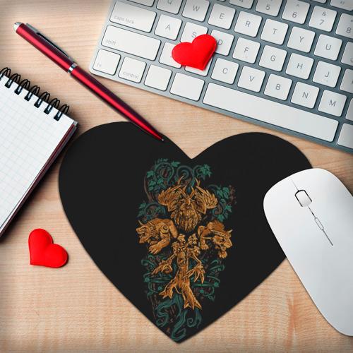 Коврик для мыши сердце  Фото 02, Друид