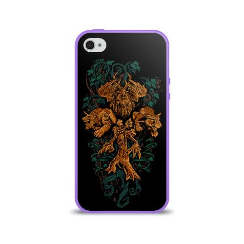 Чехол для Apple iPhone 4/4S силиконовый глянцевый  Фото 01, Друид