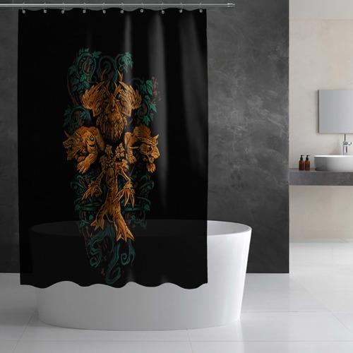 Штора 3D для ванной  Фото 03, Друид