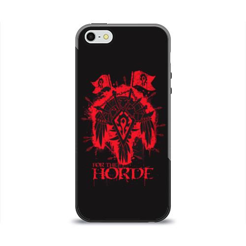 Чехол для Apple iPhone 5/5S силиконовый глянцевый  Фото 01, Horde