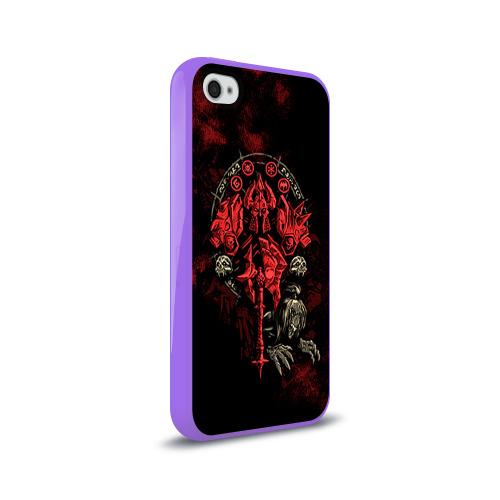 Чехол для Apple iPhone 4/4S силиконовый глянцевый  Фото 02, WOW