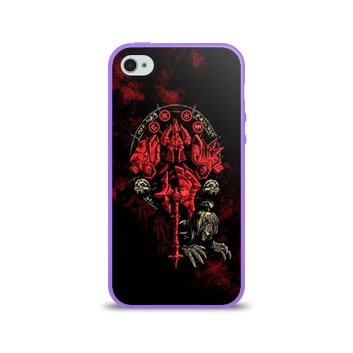 Чехол для Apple iPhone 4/4S силиконовый глянцевый  Фото 01, WOW