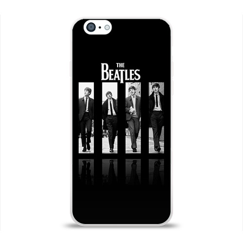 Чехол для Apple iPhone 6 силиконовый глянцевый  Фото 01, The Beatles