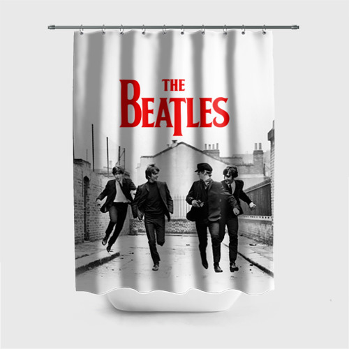 Штора 3D для ванной The Beatles