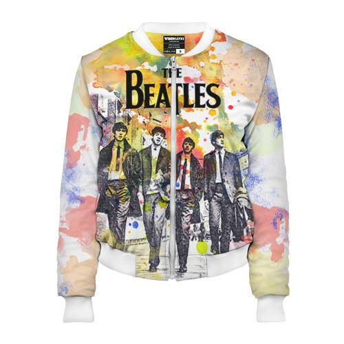 Женский бомбер 3D The Beatles
