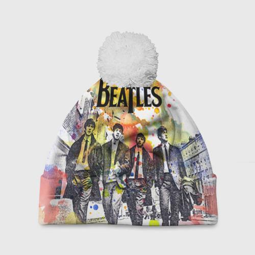 Шапка 3D c помпоном  Фото 01, The Beatles