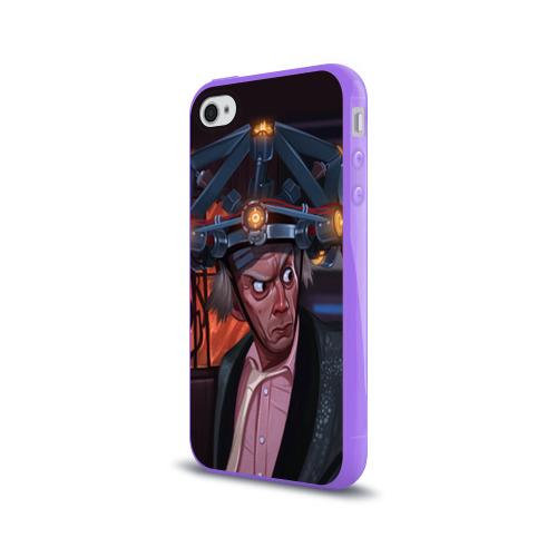 Чехол для Apple iPhone 4/4S силиконовый глянцевый  Фото 03, Назад в будущее
