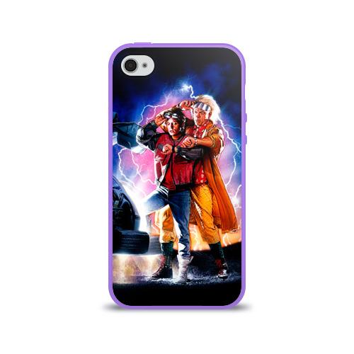 Чехол для Apple iPhone 4/4S силиконовый глянцевый  Фото 01, Назад в будущее
