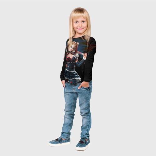 Детский лонгслив 3D  Фото 04, Харли Квинн