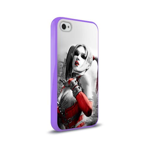 Чехол для Apple iPhone 4/4S силиконовый глянцевый  Фото 02, Харли Квинн