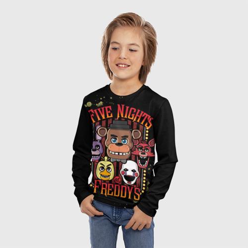 Детский лонгслив 3D Five Nights At Freddy's Фото 01