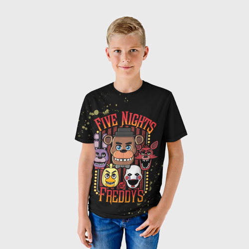 Детская футболка 3D Five Nights At Freddy's
