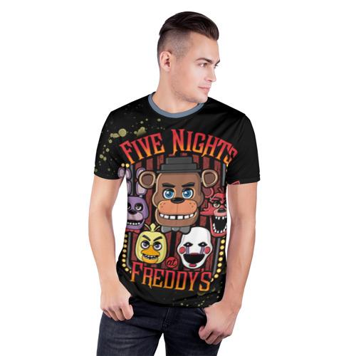 Мужская футболка 3D спортивная Five Nights At Freddy's Фото 01