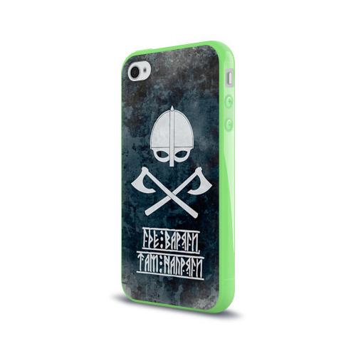 Чехол для Apple iPhone 4/4S силиконовый глянцевый  Фото 03, Варяги
