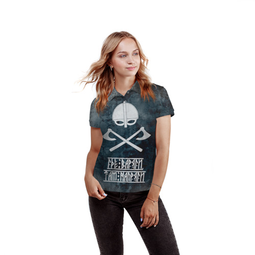 Женская рубашка поло 3D  Фото 03, Варяги