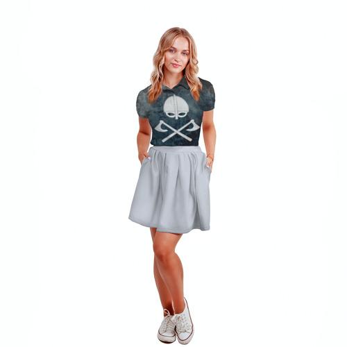 Женская рубашка поло 3D  Фото 04, Варяги