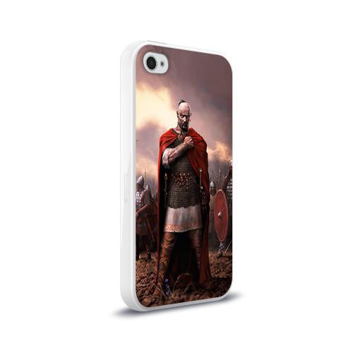 Чехол для Apple iPhone 4/4S силиконовый глянцевый  Фото 02, Князь Святослав Игоревич