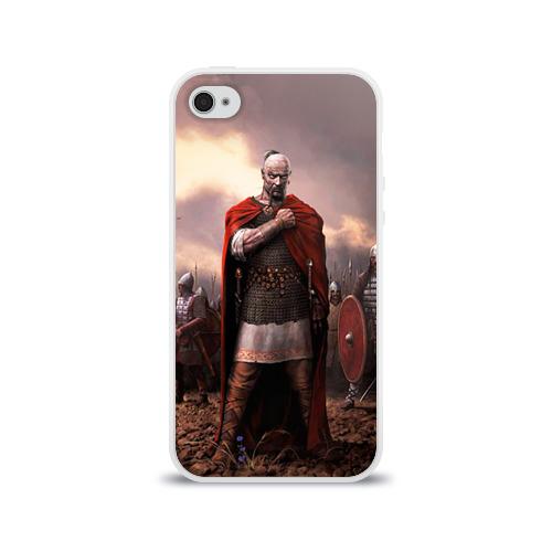 Чехол для Apple iPhone 4/4S силиконовый глянцевый  Фото 01, Князь Святослав Игоревич