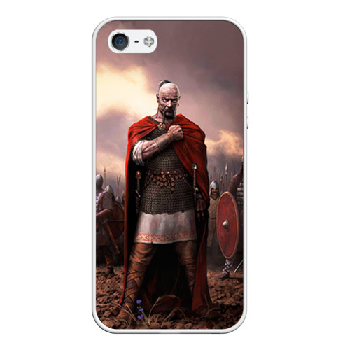 Чехол для Apple iPhone 5/5S силиконовый Князь Святослав Игоревич