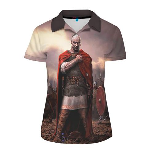 Женская рубашка поло 3D Князь Святослав Игоревич