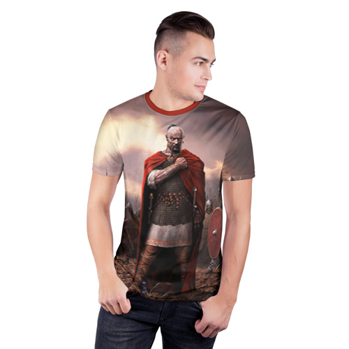 Мужская футболка 3D спортивная Князь Святослав Игоревич Фото 01
