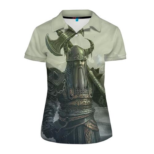 Женская рубашка поло 3D Варвар с лабрисом