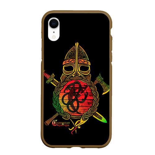 Чехол для iPhone XR матовый Славянский щит Фото 01
