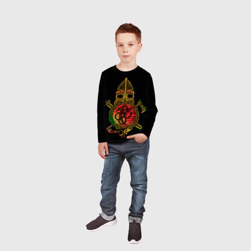 Детский лонгслив 3D  Фото 05, Славянский щит