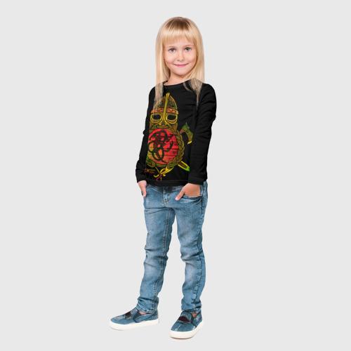 Детский лонгслив 3D  Фото 04, Славянский щит