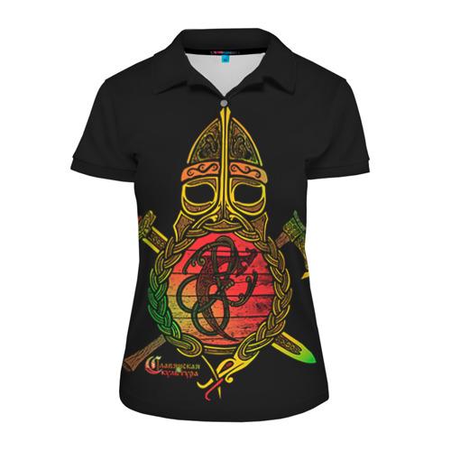 Женская рубашка поло 3D Славянский щит