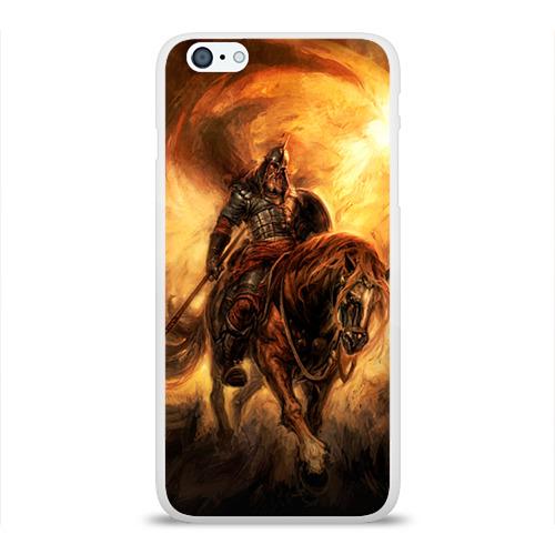 Чехол для Apple iPhone 6Plus/6SPlus силиконовый глянцевый  Фото 01, Богатырь с копьем