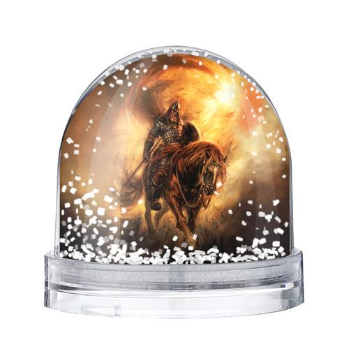 Водяной шар со снегом Богатырь с копьем