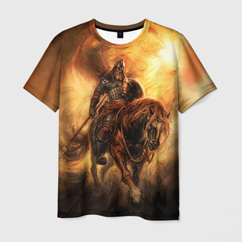 Мужская футболка 3D  Фото 03, Богатырь с копьем