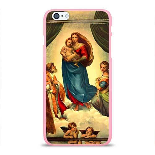 """Чехол силиконовый глянцевый для Apple iPhone 6 Plus """"Рафаэль - Сикстинская мадонна"""" - 1"""