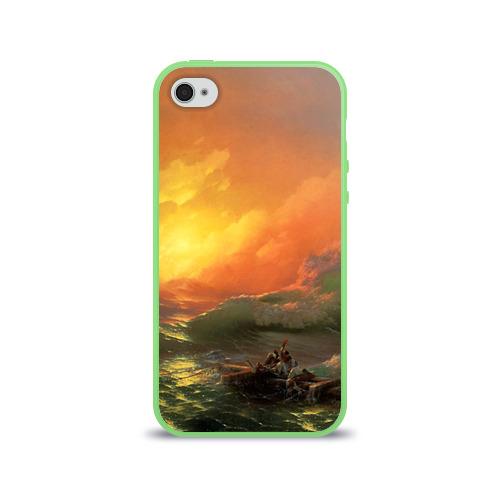 Чехол для Apple iPhone 4/4S силиконовый глянцевый  Фото 01, Айвазовский - 9 Вал