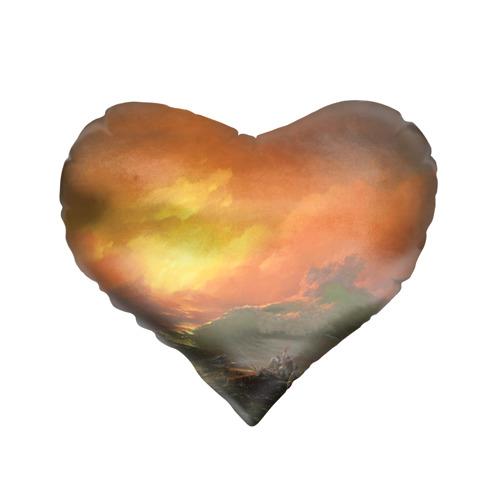Подушка 3D сердце  Фото 01, Айвазовский - 9 Вал