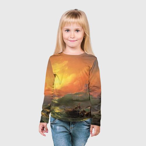 Детский лонгслив 3D  Фото 03, Айвазовский - 9 Вал