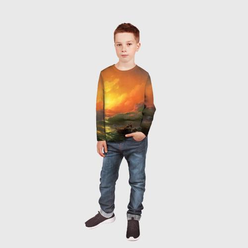 Детский лонгслив 3D  Фото 05, Айвазовский - 9 Вал