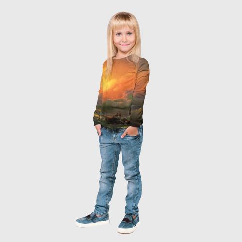 Детский лонгслив 3D  Фото 04, Айвазовский - 9 Вал