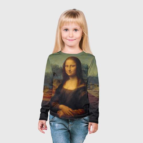 Детский лонгслив 3D  Фото 03, Леонардо да Винчи - Мона Лиза