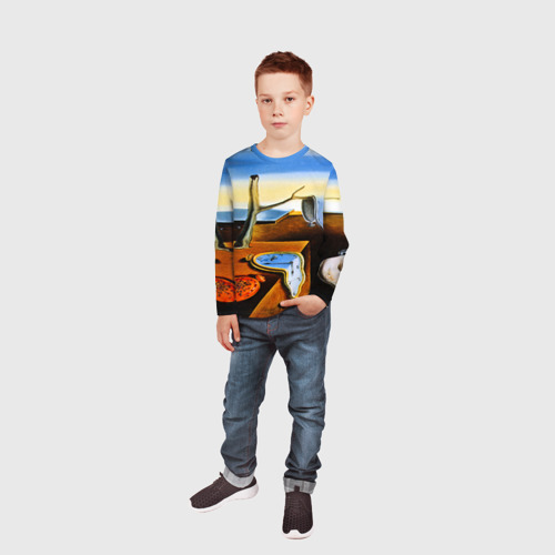 Детский лонгслив 3D  Фото 05, Сальвадор Дали - Постоянство Памяти