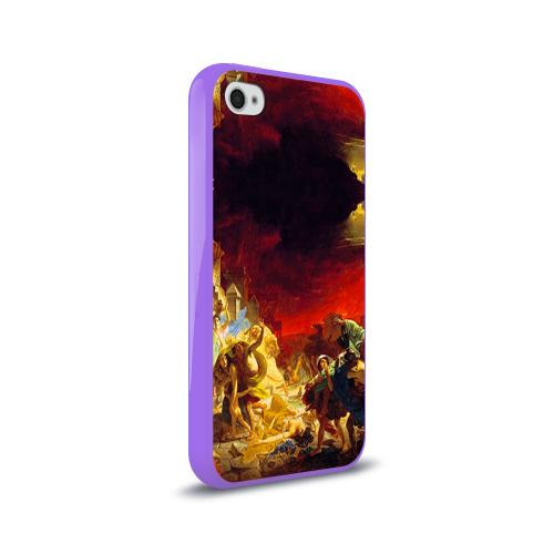 Чехол для Apple iPhone 4/4S силиконовый глянцевый  Фото 02, Брюллов - Последний день Помпеи